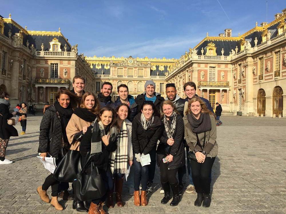 Outside of the Palace of Versailles