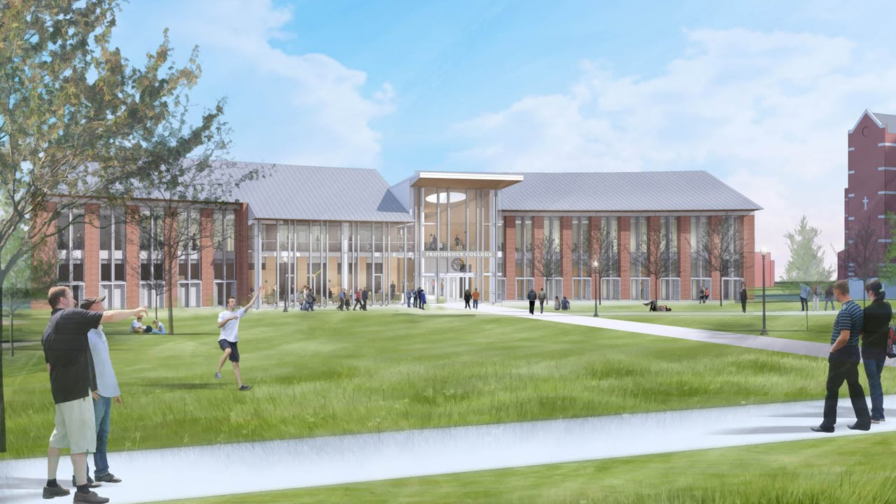 A rendering of the new Arthur and Patricia Ryan Center for Business Studies.