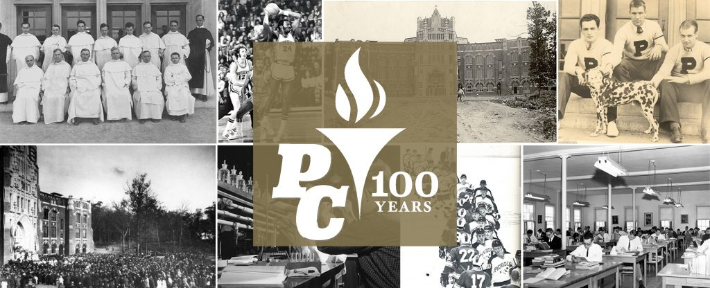 These are images capturing Providence College's 100 years of history rooted in the Catholic and Dominican liberal arts tradition.