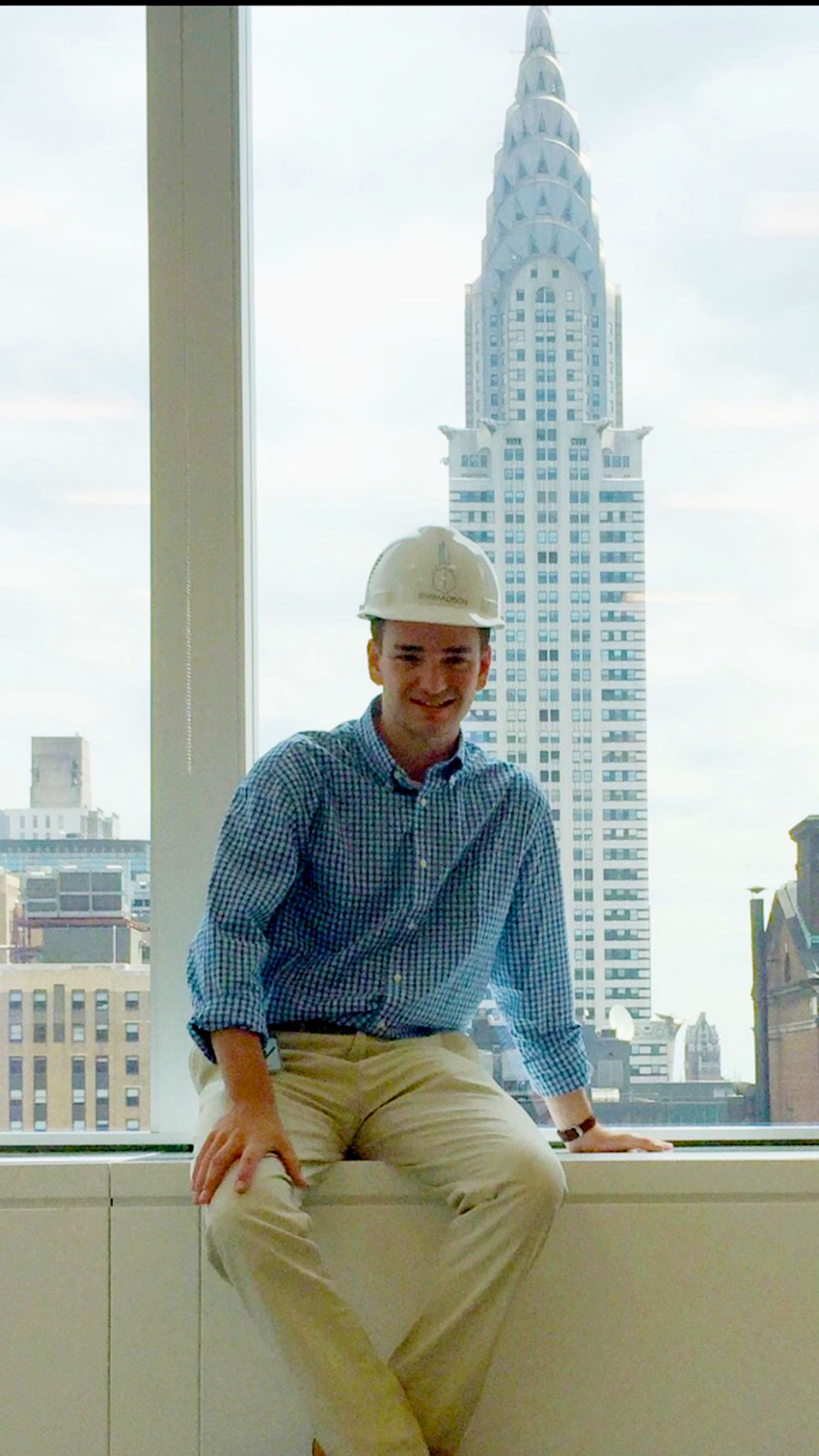 Dan Pupke '17, a finance and management double-major interned for RXR Reality this summer.