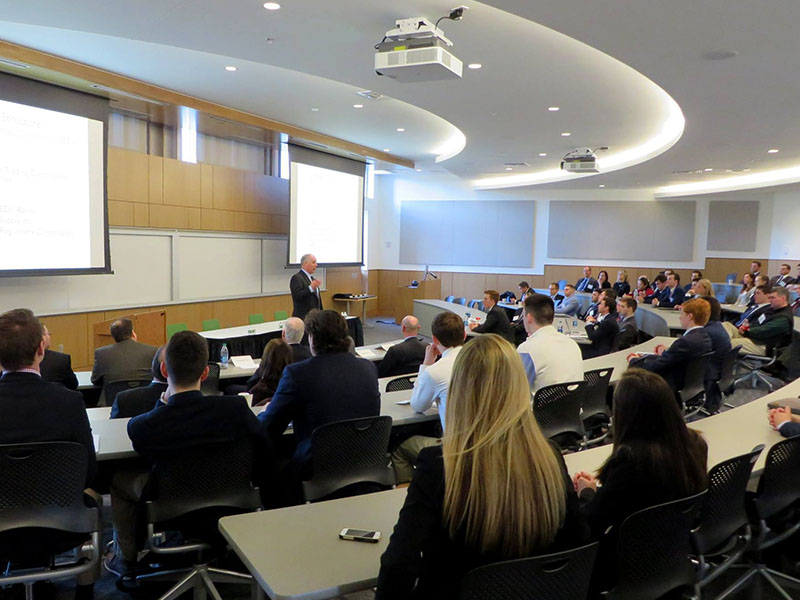 PCSB students and faculty at the Investment Forecast Forum