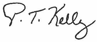 Pat Kelly Signature