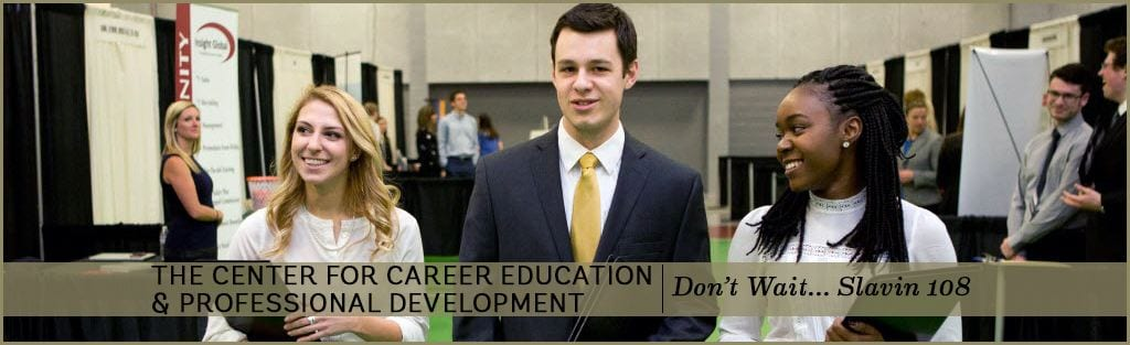 Career Education & Professional Development banner