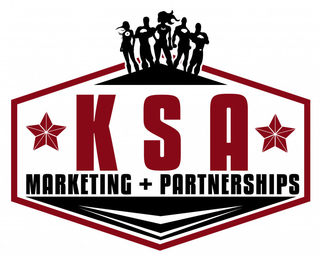 KSA Marketing + Partnership logo, red and black
