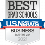 US News and World Report Best Part Time MBA Badge for 2021