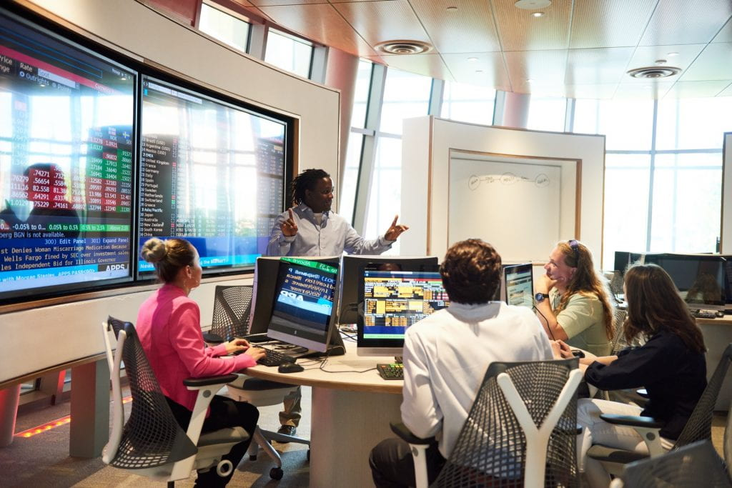 Graduate Students in the Finance Lab