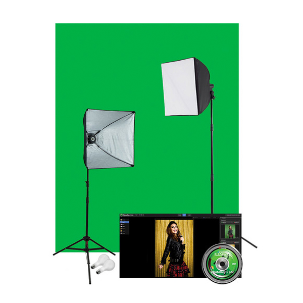 Green Screen Photo Lighting Kit