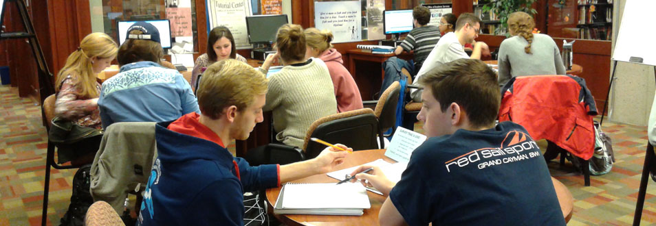 Students studying for the finals