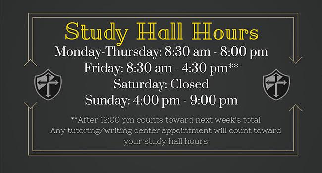 Image for Study Hall Hours