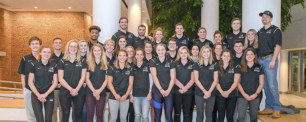 Members of the 2017-18 Student-Athlete Advisory Committee
