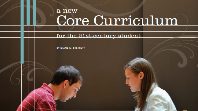 A new Core Curriculum for the 21st century student handout