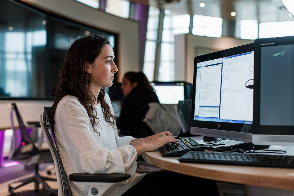 computer science student in the ryan center