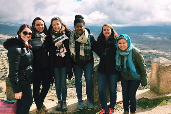 Taylor Gibson '17 Study Abroad Morocco, students,  travel