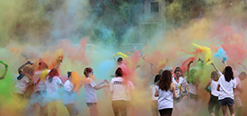 students in color race