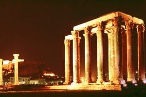 Temple of Olympic Zeus at Night