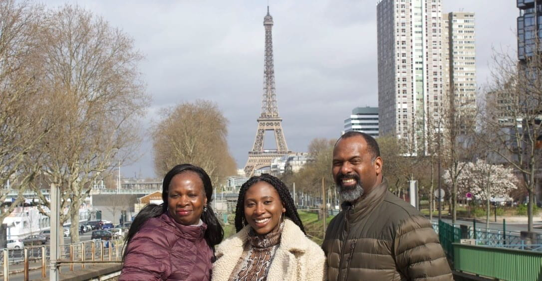 Monet Eugene and parents in Paris