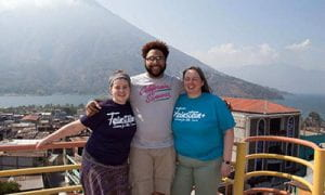 Dr. Manchester and students in guatemala