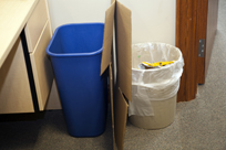 Cardboard left out for recycling