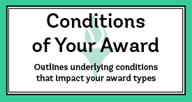 Conditions of your Award
