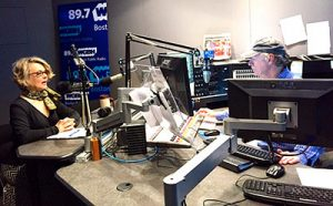 Dr. Joan Branham (Art History) at WGBH studios in Boston, Mass