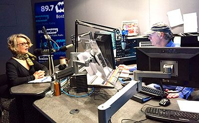 Dr. Joan Branham (Art History) at WGBH studios in Boston, Mass.