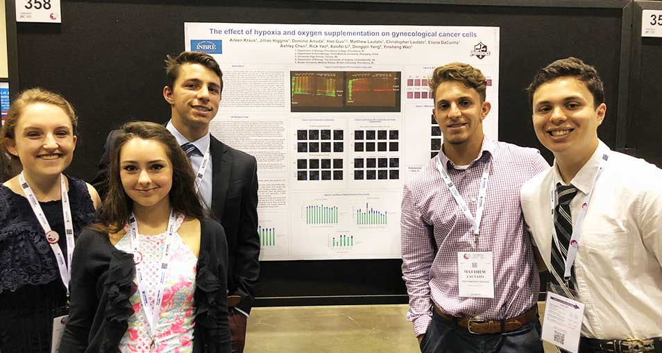 Biology student presenters in Orlando