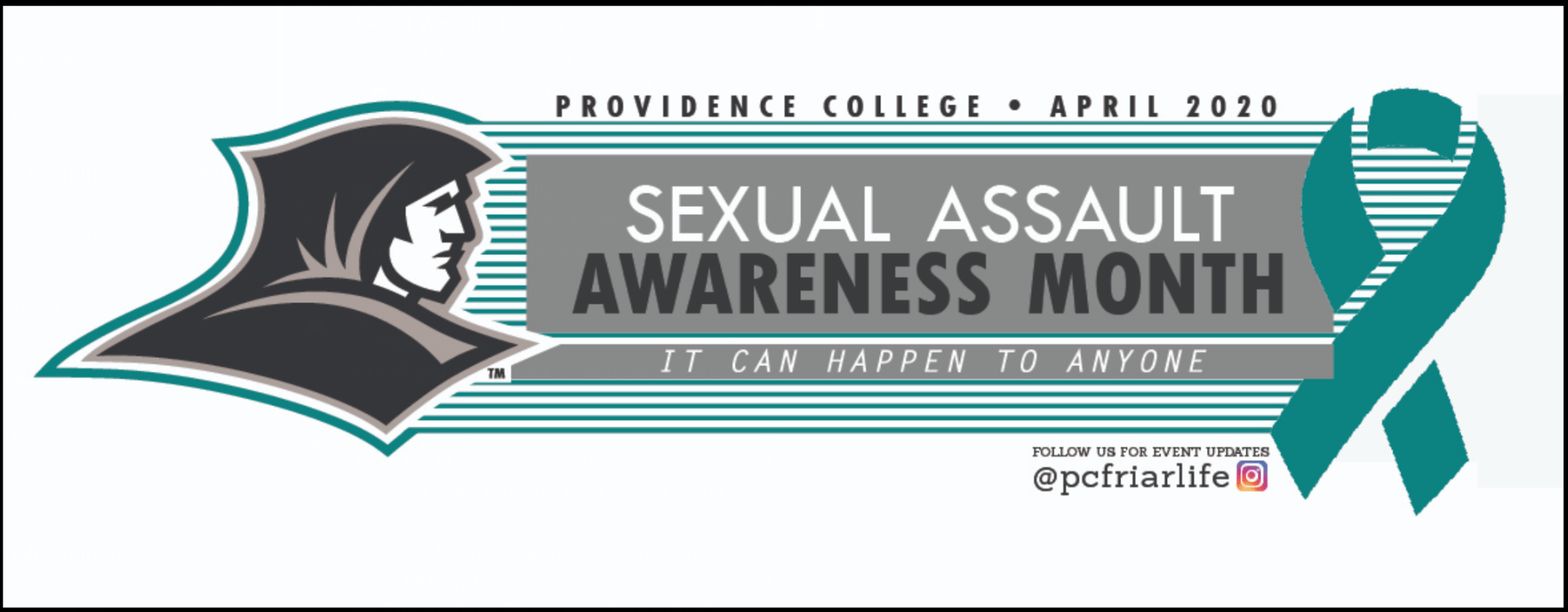 sexual assault awareness month - it can happen to anyone
