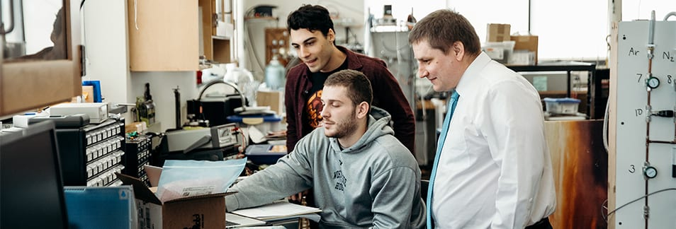 Luke Jenness '19, David Procopio '19, Dr. Erich Gust Ph.D Physics-Engineering Lab, Research
