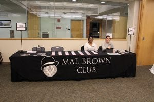Registration table image for the Mal Brown club