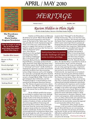 Heritage Newsletter April May 2010