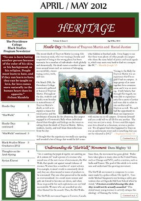 Heritage Newsletter April May 2012