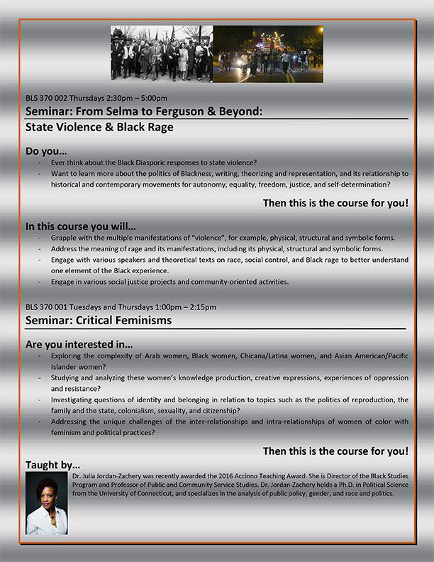 Seminar: From Selma to Ferguson & Beyond Flyer