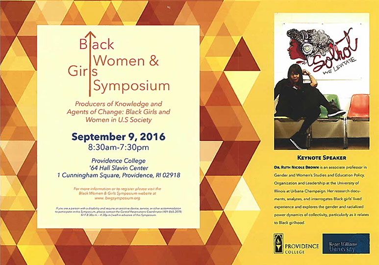 Black Women and Girls Symposium flyer