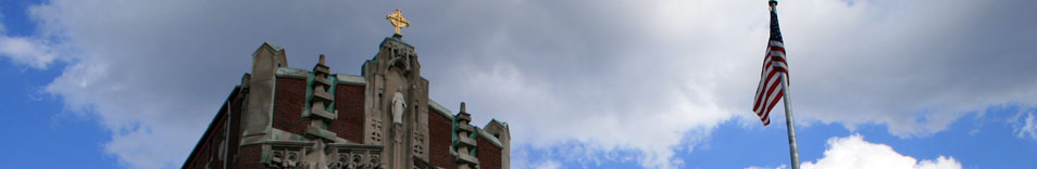 The top of Harkins Hall