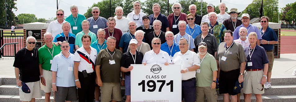 Alumni from the class of 1971