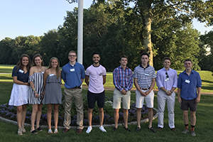Members of the Class of 2021 at the Fairfield/Westchester Summer Reception
