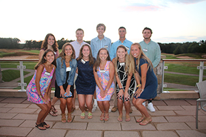 Members of the Class of 2021 at the Hingham Summer Reception