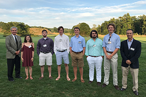 Members of the Class of 2021 at the Manchester-by-the-Sea Summer Reception