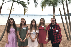 Members of the Class of 2021 at the New Haven Summer Reception