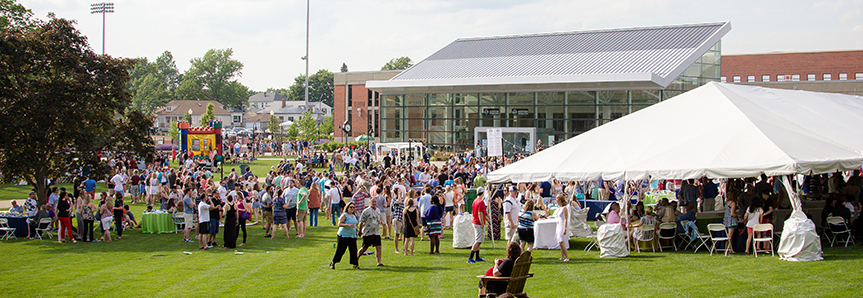 Slavin Lawn during Reunion 2017