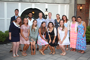 Members of the Class of 2021 at the Rhode Island Summer Reception