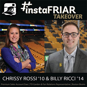 InstarFriar Takeover Billy Ricci '14 and Chrissy Rossi '10