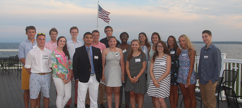 Members of the Class of 2021 at a Summer Reception.