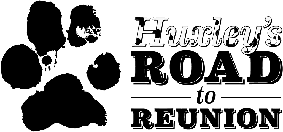 Paw print with Huxley's Road to Reunion