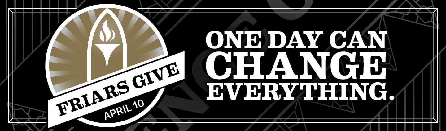 friars give 2019 - one day can change everything - april 10