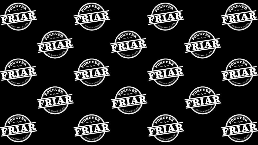 forever a friar logo zoom background