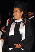 Mercedes Hernandez at graduation