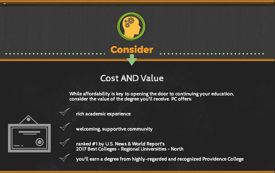 Consider Cost and Value