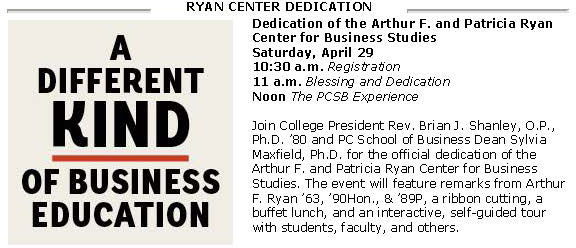Ryan Center Dedication Announcement