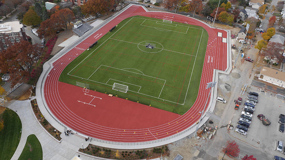Aerial Photo of completed Track and Field